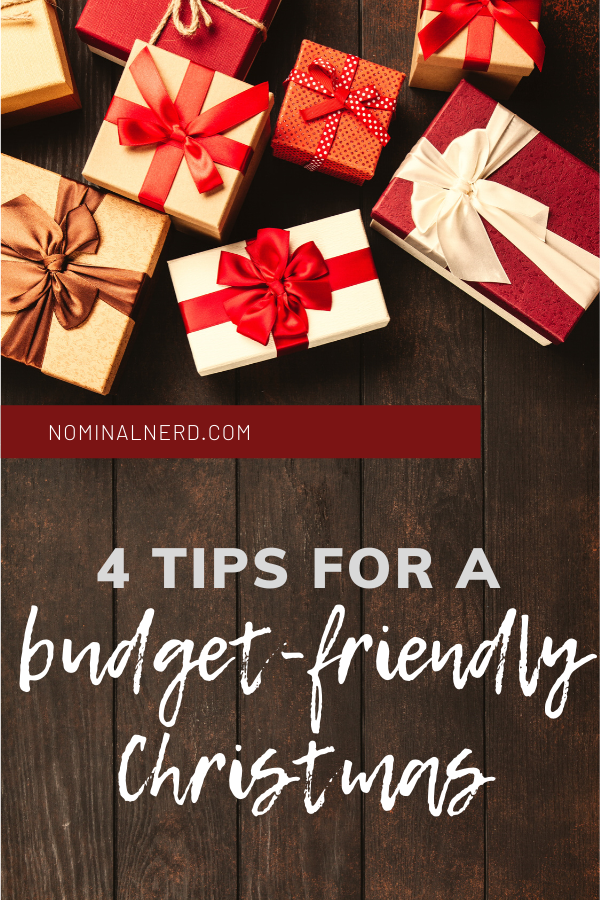How to have a budget-friendly Christmas! Four tips to get you through the Holiday season if you are on a strict budget. budgeting | Christmas | gifts | frugal | DIY