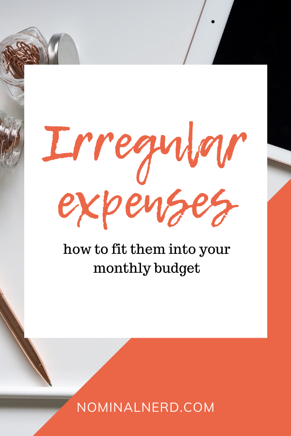 Irregular expenses are some of the most destructive budget items in your monthly budget. Here's a few tips to help! budgeting | monthly budget | expenses | irregular expenses | variable