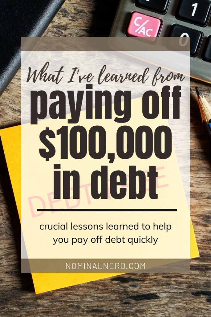 We paid off over $100,000 in debt in just over 2 years, and boy was it tough. But we learned some impactful lessons from it, and want to share them with you! debt payoff | debt | budget | financial freedom | family budgeting
