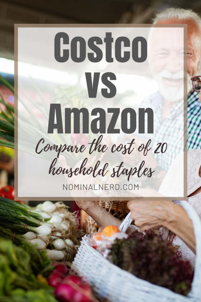 If you have searched for the best deals on household staples, you have likely considered Amazon and Costco. But which has the best value? budget | money | save money | grocery shopping | grocery spending | household