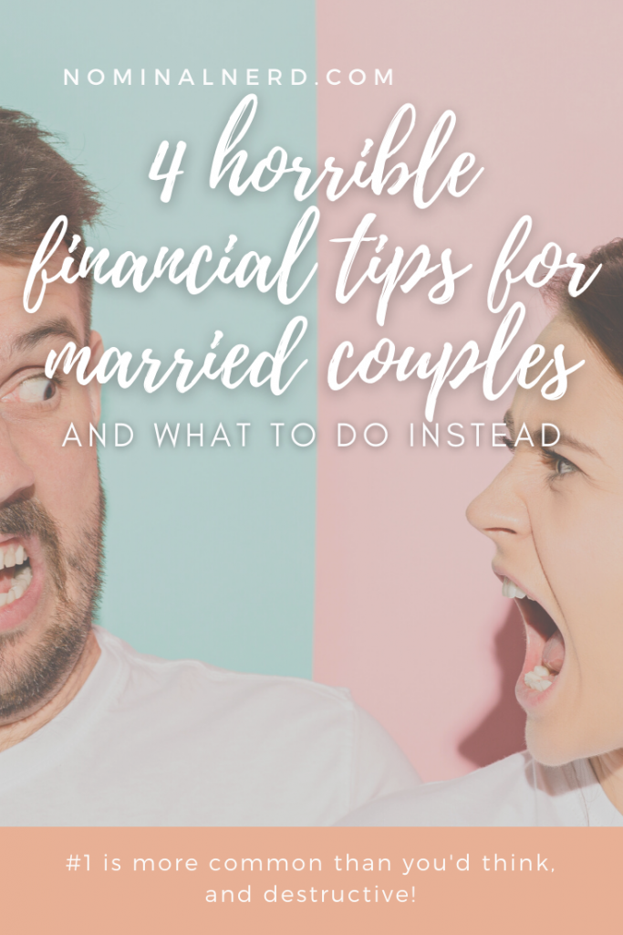 Have you ever received unsolicited financial advice from someone? Chances are, you have. Tread lightly! Some financial advice can be really great, but some can destroy a marriage. Check out some very common bad financial advice in our list! finances | budget | advice | marriage | accounts | separate