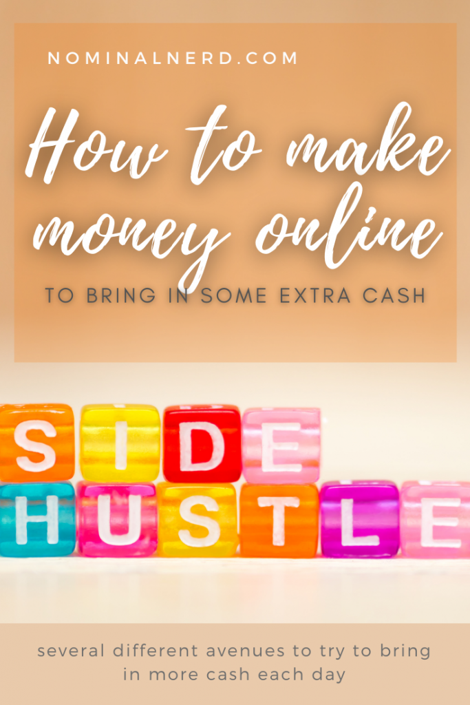 Are you living paycheck to paycheck and struggle to pay bills? One great way to bring in extra cash is to find side hustles online! These can be done while you're home, on the move, on the weekends, anytime really. budget | side hustle | money | extra money | paycheck | cash
