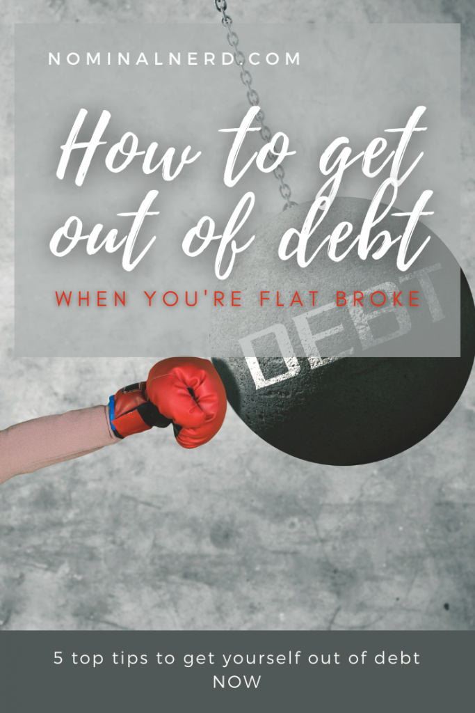 Are you broke and have a mound of debt? Check out our top tips on how to get out of debt when you're broke, and how to get yours paid off now! budget | debt | pay off debt | how to get out of debt | broke | tips