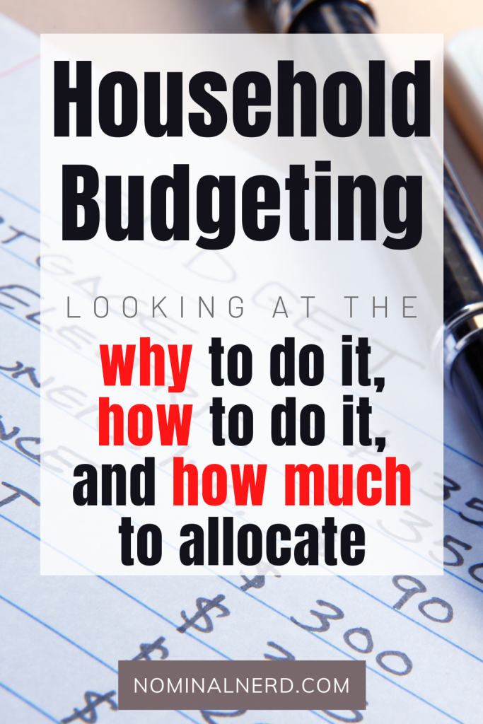 Not sure how much to allocate to all of your household budget percentages? We talk about why to budget in percentages, how to do it, and how much you should allocate! budget | household budget | budget percentages | budgeting | groceries | utilities | debts | car loan