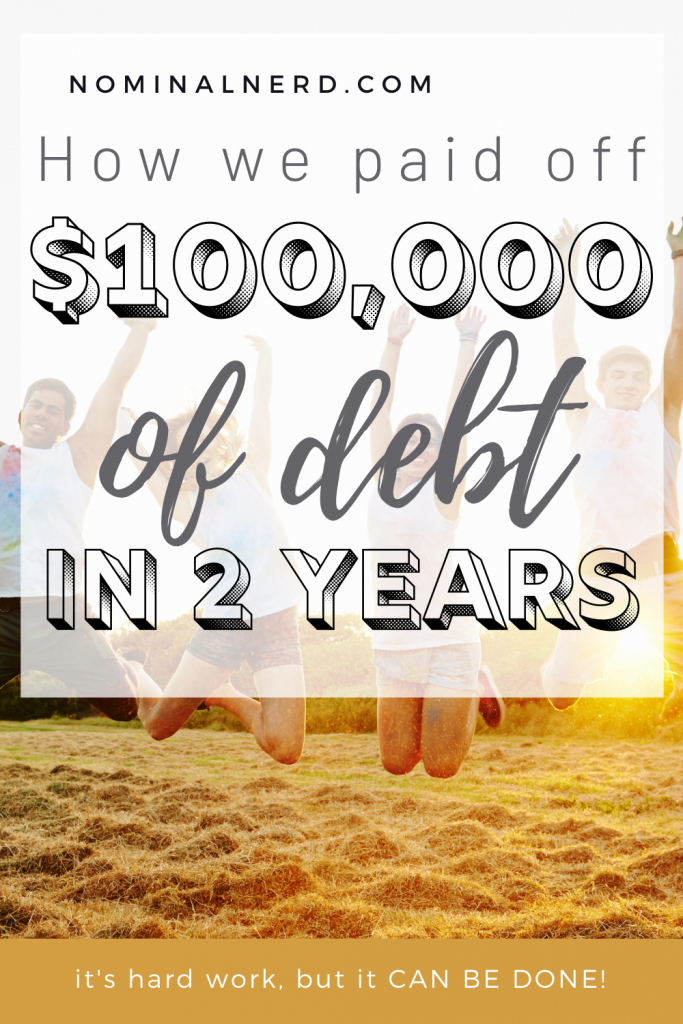 We paid off over $100,000 in debt, and that's not even mortgage! Wondering how you can pay off debt fast? Check out our full story! debt free | debt payoff | how to pay off debt