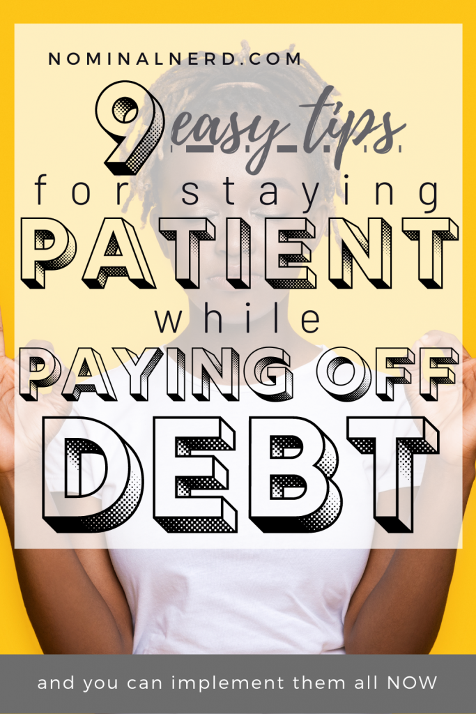 Paying off debt is HARD WORK, and even harder to keep going. Check out our tricks to stay patient while paying off debt! debt payoff | budget | save money | debt