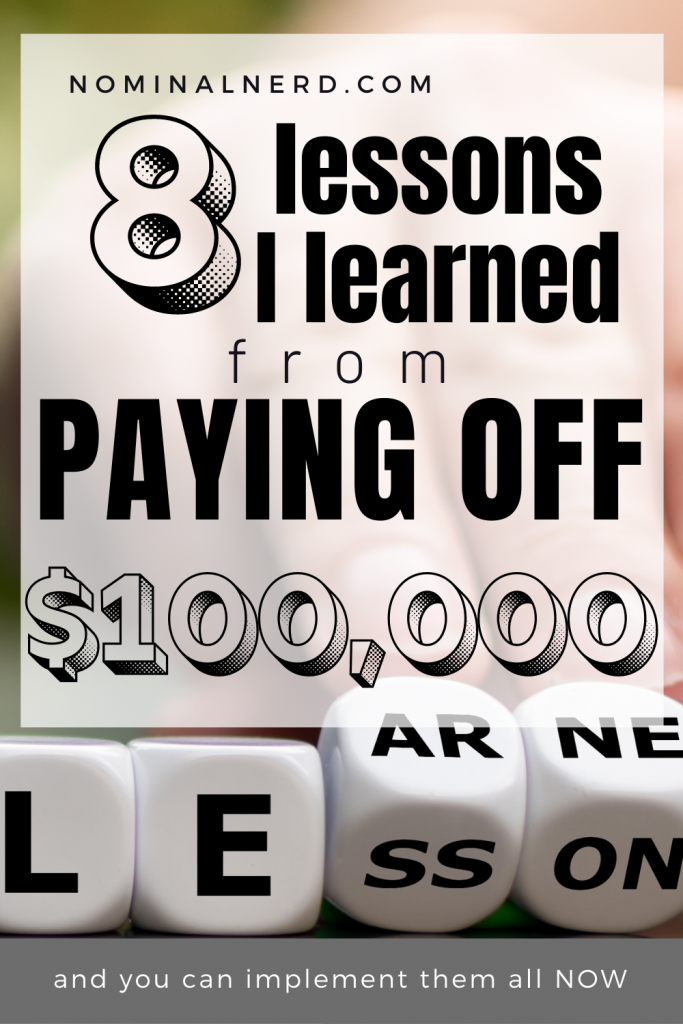 We learned a lot of lessons while paying off over $100,000 in debt. Here, we talk through some of the biggest debt free lessons we learned. Some are so simple! budget | debt payoff | debt free | debt free tracker | paying off debt