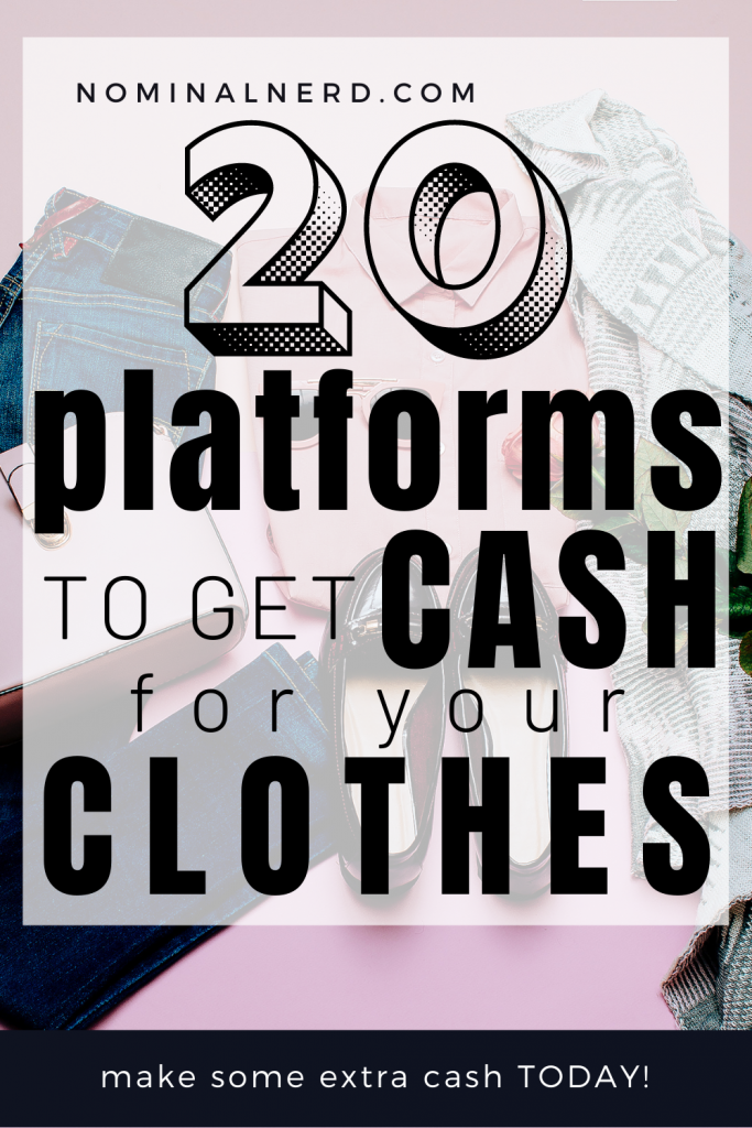 Selling unused items in your closet is an awesome way to get cash for clothes you no longer need! cash for clothes | make extra money | selling clothes | unused clothes